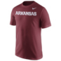 Arkansas Razorbacks Nike Short Sleeve Wordmark Tee