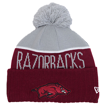 Arkansas Razorbacks New Era Sport Knit Hat