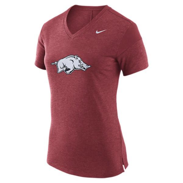 Arkansas Razorbacks Nike Womens Fan V-Neck Tee