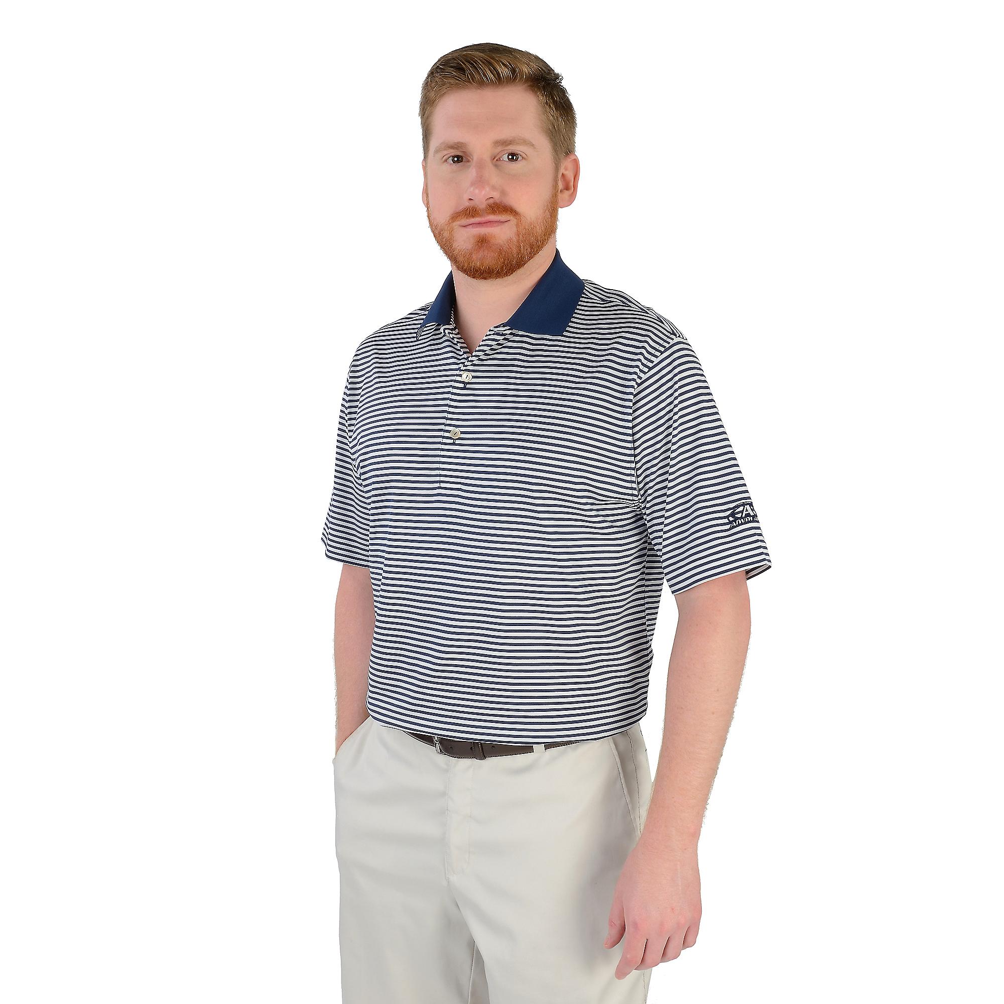 AdvoCare Classic Stripe Cotton Lisle Polo