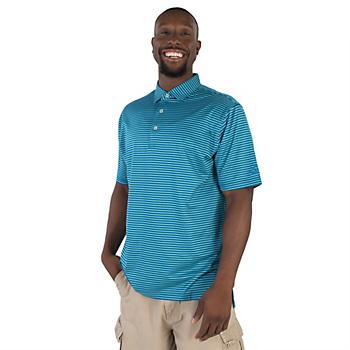 AdvoCare Classic Stripe Cotton Lisle Self Collar Polo