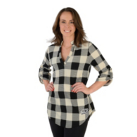 AdvoCare Tunic Plaid 3/4 Sleeve Blouse