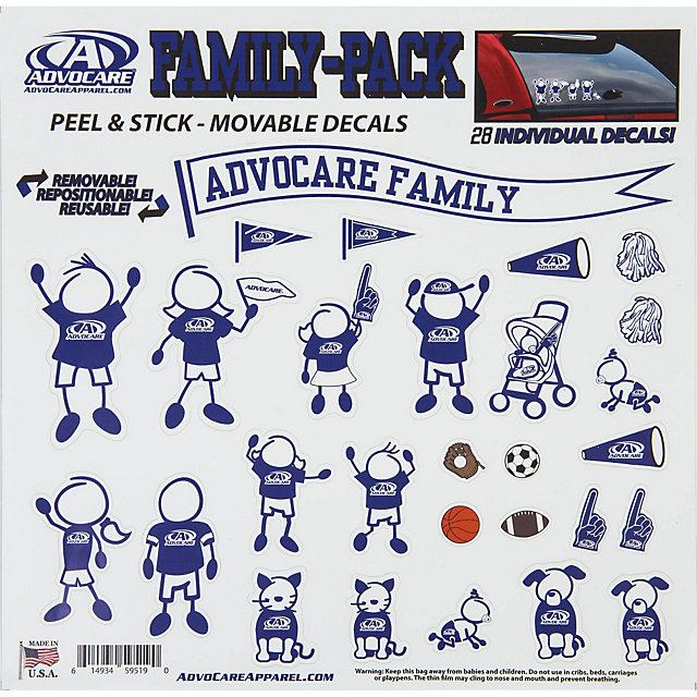 AdvoCare Family Decal Stickers Automotive Accessories - Advocare car decal stickers