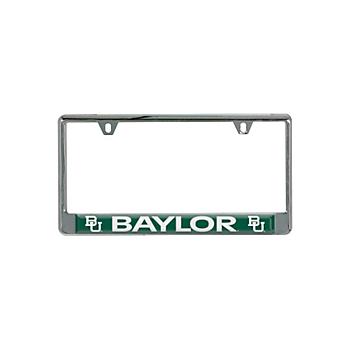 Baylor Bears Domed Inserts License Plate Frame