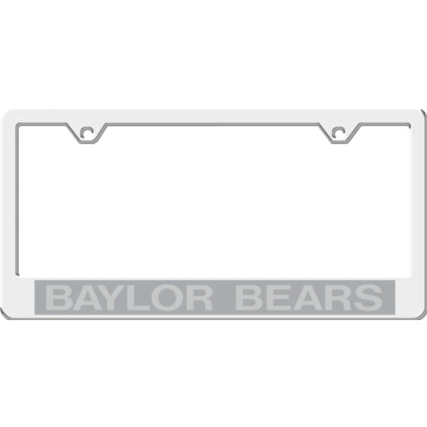 Baylor Bears Acrylic Silver Matte License Plate Frame