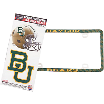 Baylor Bears Decal Combo License Plate Frame