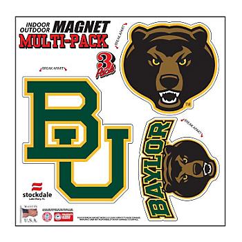 Baylor Bears 8x8 Multi-Pack Magnets