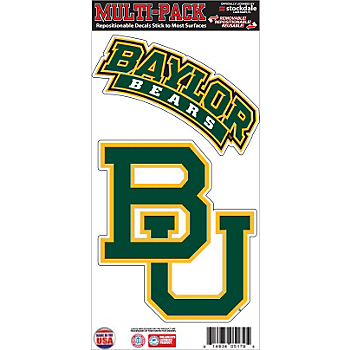 Baylor Bears 6x12 Movable 2-Pack Logo Decal
