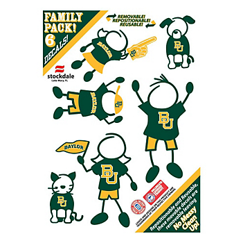 Baylor Bears 5x7 Family Decals