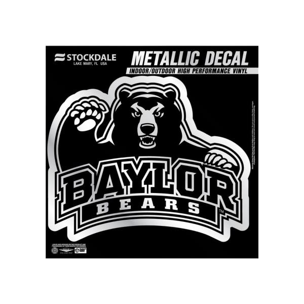 Baylor Bears 6x6 Metallic Decal