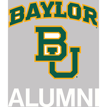 Baylor Bears 4x5 Alumni Decal