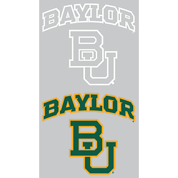 Baylor Bears 2-Pack 3x7 White Logo Decal