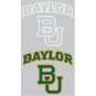 Baylor Bears 2-Pack 3x7 White Logo Decal