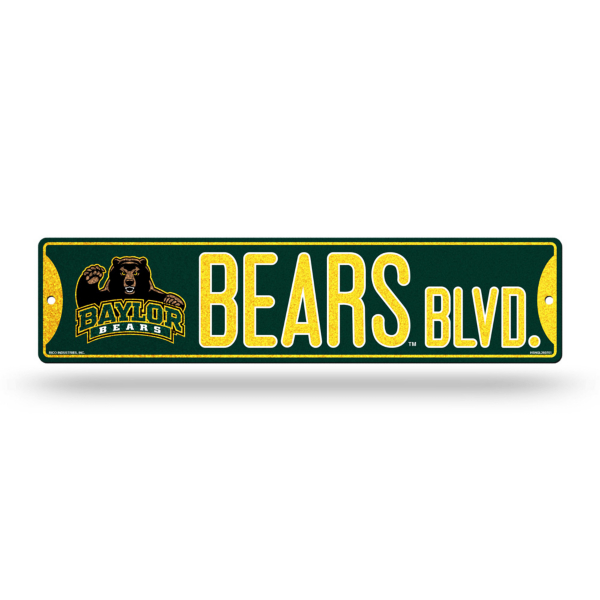 Baylor Bears Bling Street Sign