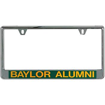 Baylor Bears Acrylic Alumni Slogan License Plate Frame