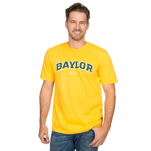 Baylor Bears Nike Gold Wordmark Cotton Tee
