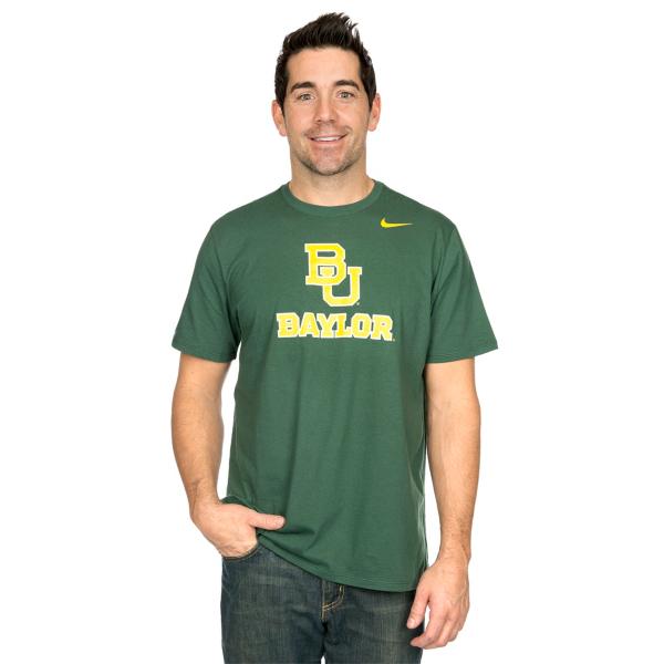 Baylor Bears Nike Cotton Logo Short Sleeve Tee
