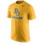 Baylor Bears Nike Gold Short Sleeve Logo Tee