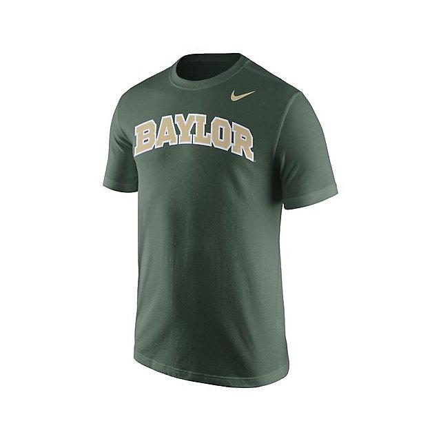 Baylor Bears Nike Cotton Short Sleeve Wordmark Tee