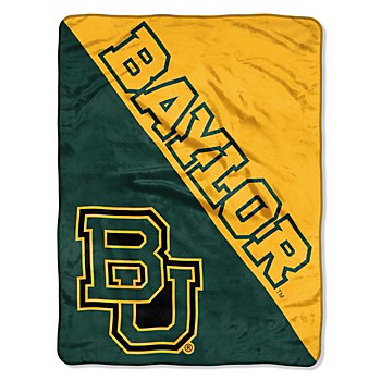 Baylor Bears Micro Raschel Half-Tone Throw Blanket