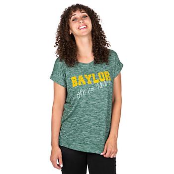 Baylor Bears Womens Here It Is Cuffed T-Shirt
