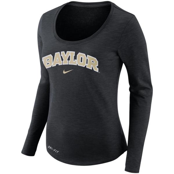 Baylor Bears Nike Womens Long Sleeve Slub Tee