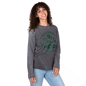 Baylor Bears Pressbox Womens Surfer Stamp T-Shirt