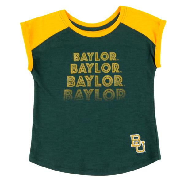 Baylor Bears Colosseum Toddler Girls Go Kart Cuffed Short Sleeve T-Shirt