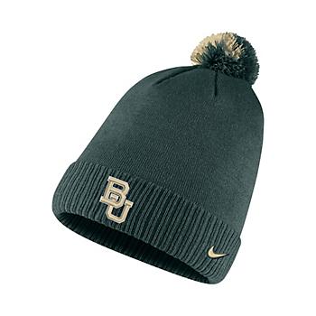 Baylor Bears Nike Sideline Pom Knit Hat