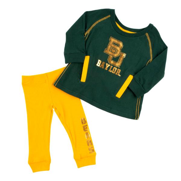 Baylor Bears Colosseum Infant Girls Nice Kick Tunic and Legging Set