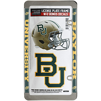 Baylor Bears License Plate Frame and Decal Pack