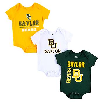 Baylor Bears Colosseum Infant Boys 3-Pack Onesie