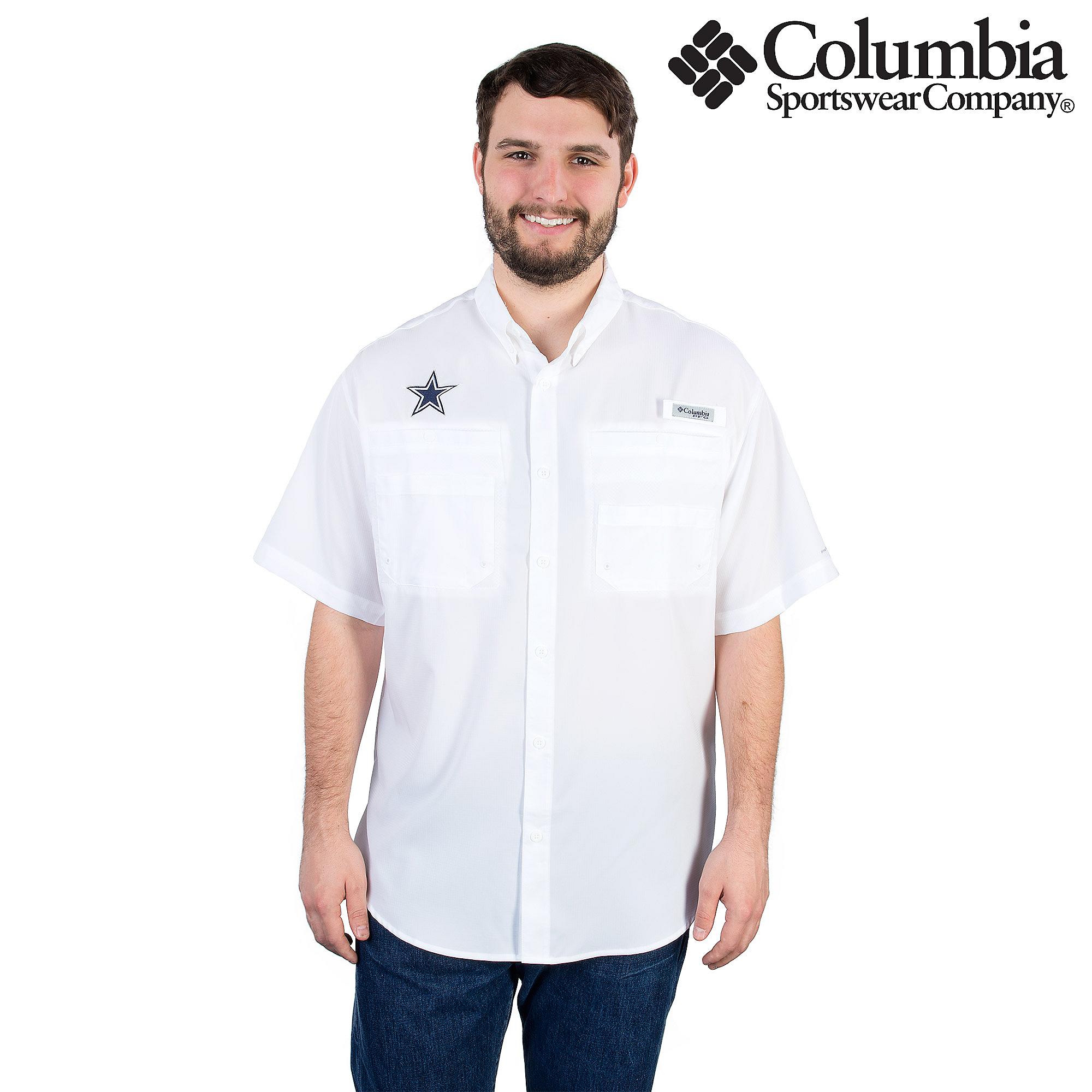 f56a8b373 Dallas Cowboys Columbia Tamiami Short Sleeve Shirt