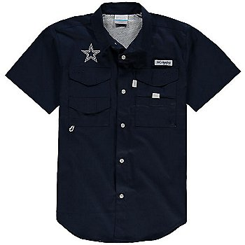 Dallas Cowboys Columbia Youth Bonehead Short Sleeve Shirt