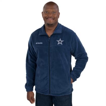 Dallas Cowboys Columbia Mens Flanker Fleece Full Zip Jacket