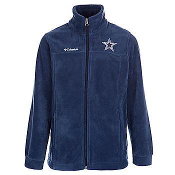 Dallas Cowboys Columbia Youth Flanker Fleece Full Zip Jacket