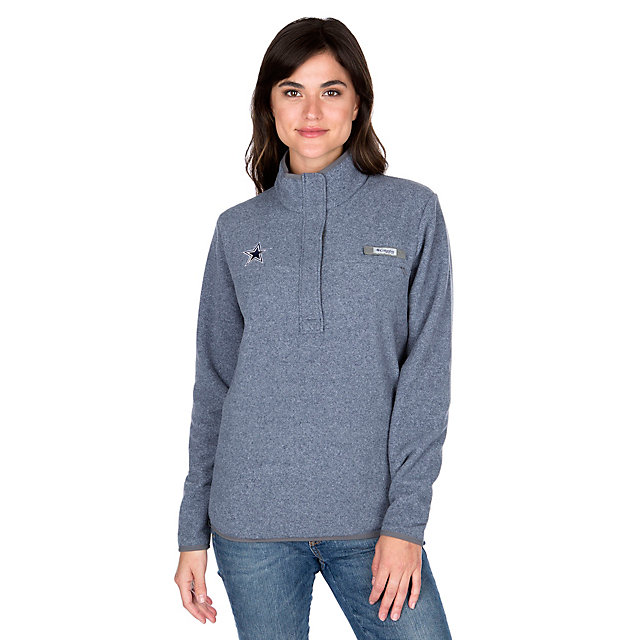 Dallas Cowboys Columbia Womens Harborside Fleece Pullover