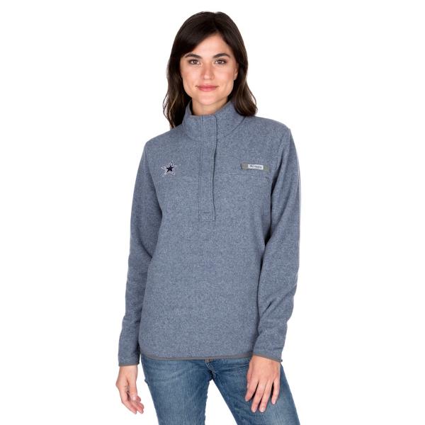 Dallas Cowboys Columbia Womens Harborside Fleece Half-Zip Pullover