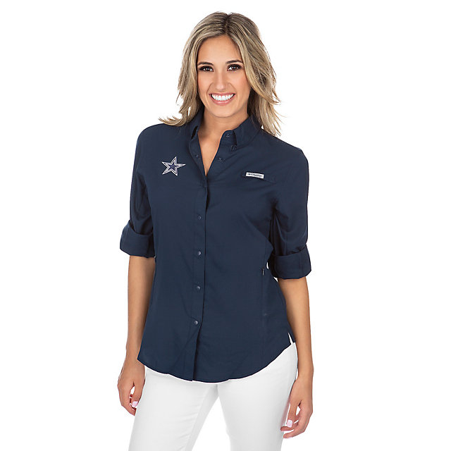 Dallas Cowboys Columbia Womens Tamiami Long Sleeve Tee