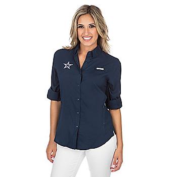 Dallas Cowboys Columbia Womens Tamiami Long Sleeve Tee