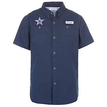 Dallas Cowboys Columbia Youth Tamiami Short Sleeve Shirt