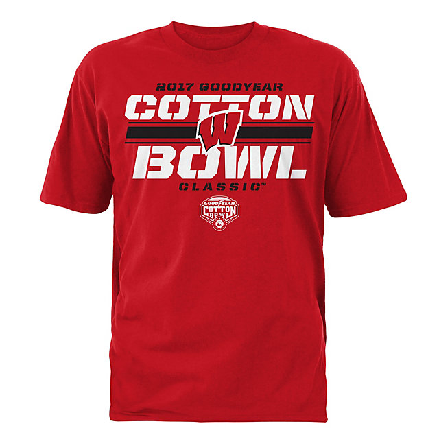 2017 Goodyear Cotton Bowl Wisconsin Mens Participant Short Sleeve Tee