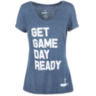 Cowboys Fit Ladies Dotted Tee