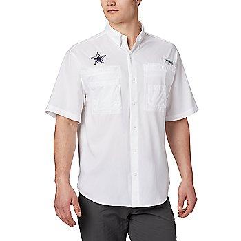 Dallas Cowboys Columbia Mens White Tamiami™ Short Sleeve Shirt