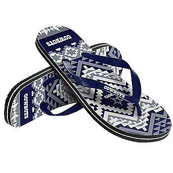 Dallas Cowboys Women's Aztec Flip Flops