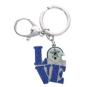 Dallas Cowboys Glitter Love Helmet Key Ring