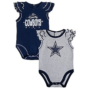 Dallas Cowboys Infant Shinning MVP 2-Pack Creeper Set