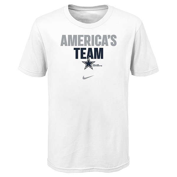 Dallas Cowboys Nike Kids Local Split Short Sleeve Tee