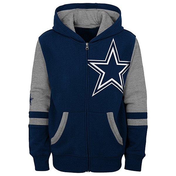 Dallas Cowboys Kids Stadium Colorblocked Full Zip Fleece Hoodie