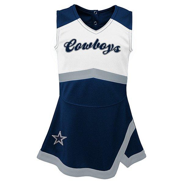 Dallas Cowboys Cheerleader Kids Girls Cheer Captain Jumper Dress